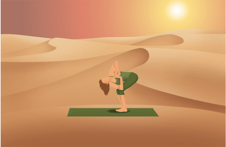 Pocket Yoga App Desert Background