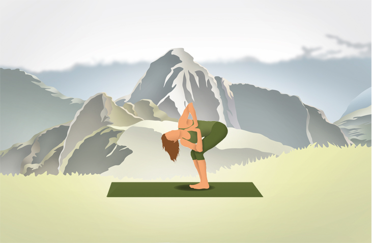 Pocket Yoga App Mountain Background